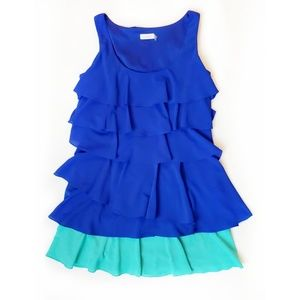 Calvin Klein Ruffle Tiered Dress Size 14